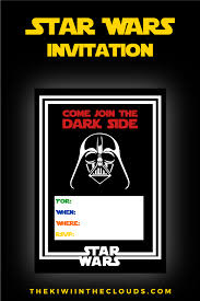 Free Printable Invitation Card Come Join The Dark Side Free Printable Star Wars Birthday Party