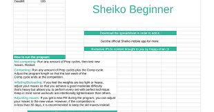 Sheiko Bench Program Sheiko Beginner Google Sheets