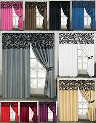 Demask Curtains Luxury Damask Curtains Pair Of Half Flock Pencil Pleat Window