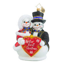 christopher radko ornaments radko snowy sweethearts