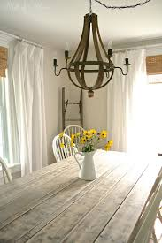 Farmhouse Table Lighting by Farmhouse Table Makeover Nest Of Bliss