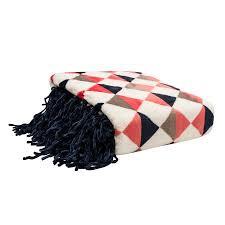 themed throw blanket decor polyseter throw blanket twotone trinagle printed plush