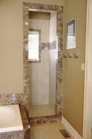 Doorless Shower For Small Bathroom Bathroom With Doorless Walk In Shower And Ceramic Tilesbathr