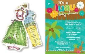 hawaiian themed wedding invitations luau themed bridal shower paperblog