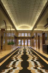 retro wave lobby hotel mosaic geometric tile flooring artaic