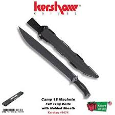 kershaw camp 18 machete full tang knife with molded sheath w