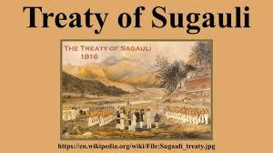 Map Of Nepal And India by Treaty Of Sugauli Youtube