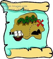 treasure map clipart image of a pirate s map