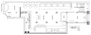 nightclub floor plan table service