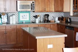 Glass Covered Wallpaper Backsplash - Wallpaper backsplash