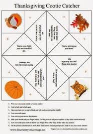gratitude activity for thanksgiving cootie catcher paper