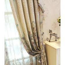 Shabby Chic Floral Curtains by Floral Embossed Embroidery Chenille Shabby Chic Valance Curtains