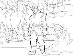 kristoff from disney movie frozen colouring page fun colouring