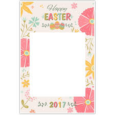 happy easter floral selfie frame photo booth social media prop