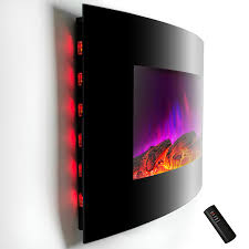 electric wall fireplace heaters home design