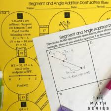 Segment Addition Postulate Worksheet Segment And Angle Addition Postulates Maze By The Math Series