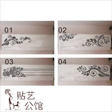 Kitchen Cabinet Decals Flower Air Conditioning Stickers Furniture Kitchen Cabinet