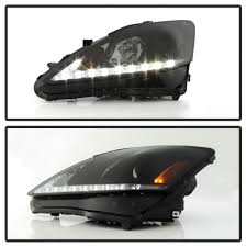lexus is 250 headlights 2006 xenon 06 10 lexus is250 is350 led drl projector headlights