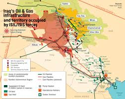 Iraq Map World by Map Of Iraq U0027s Oil Gas Infrastructure And Territory Occupied By