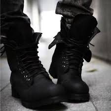 lace up moto boots mens punk rock cool military combat retro lace up motorcycle ankle