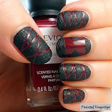 black widow nail art following a tutorial by chalkboard nails