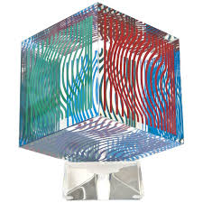 victor vasarely painted acrylic on wood sculpture at 1stdibs