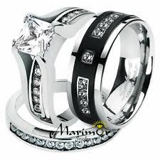 his and hers wedding ring sets titanium wedding band sets ebay