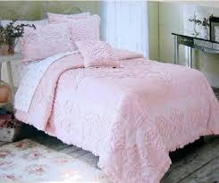 rachel ashwell white roses chenille comforter ruffles pillow sham