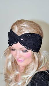 lace headbands turban headband black lace turban black turban headwrap lace