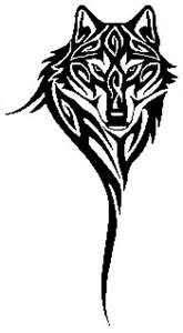 wolf bust tribal charging manzara wolf
