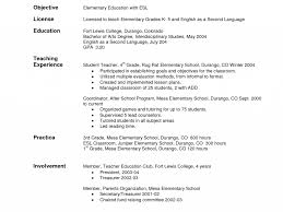 Resume Objective Statement For Teacher Education On Resume Examples Sample Teacher Good Format For