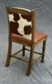 cowhide counter stool dining chair bar stool rustic artistry