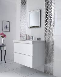 white bathroom tile designs fancy mosaic tile in bathroom design about home decorating ideas