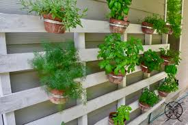 Miracle Grow Patio by Vertical Pallet Herb Garden Jenron Designs