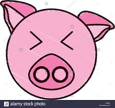 drawing piggy face animal stock vector art u0026 illustration vector