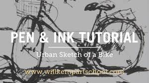 urban sketching tutorial pen u0026 ink bike sketch hd youtube