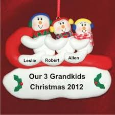 winter snowflake 4 grandkids new baby for grandparents ornaments