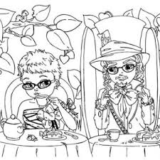beautiful alice and mad hatter coloring page color luna
