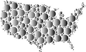 United States Map Black And White by Clipart Prismatic United States Map Circles 6