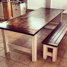 Rustic Bench Dining Table Rustic Dining Table With Bench Ispcenter Us