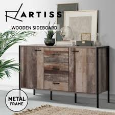 buffet sideboard cabinet storage kitchen hallway table industrial rustic details about artiss buffet sideboard cabinet storage kitchen hallway table industrial rustic