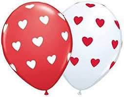 valentines balloons valentines day big heart white balloons x 5