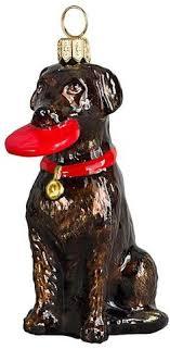 chocolate labrador retriever glass ornament chocolate labrador