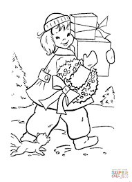 christmas shopping coloring page free printable coloring pages