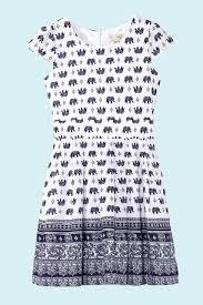 yumi girls elephant print tea dress yumi girls