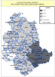 Norcia Italy Map Classificazione Sismica Regione Umbria