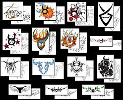 taurus zodiac sign tattoos what do they mean tattoos designs