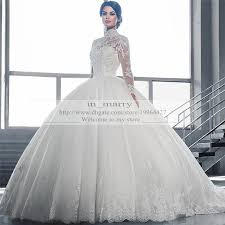 bridal gowns online arabic sleeves gown wedding dresses princess