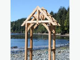 wedding arch log timberframe wedding arch for sale esquimalt view royal