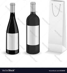 wine bottle gift bags wine bottles with bottle gift bag royalty free vector image